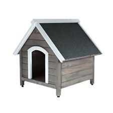 Hundehütte Hundehaus aus Massivholz Farbe Grau für Hunde und Katzen Outdoor