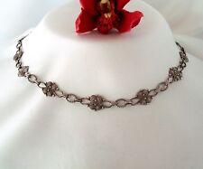 Ein Traum altes Collier Kette 925 Silber Collierkette Halskette / cg 859