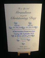 Personalised & Hand Made Christening Card