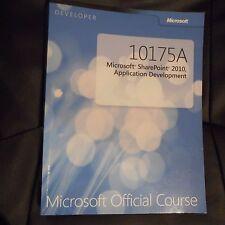 10175A Microsoft SharePoint 2010, Application Development Official Course PB