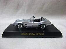 1:64 Kyosho Shelby Cobra 427 S/C Silver Diecast Model Car