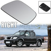 Right Door Rearview Mirror Glass W/ Heated Back For Nissan Navara D40 2005-2015