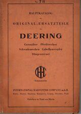 Deering Hauptkatalog Nr. 7 H, ORIGINAL ERSATZTEILE IHC