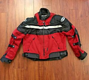 Joe Rocket Meteor 4 Armored Ballistic Touring Motorcycle Jacket Red Womens Sz XL