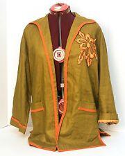 Vintage Pia Rucci Blazer Jacket Women's Sz Small 3/4 Sleeve Beaded Floral Design