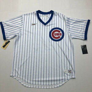 Nike Chicago Cubs Ernie Banks Baseball Jersey Cooperstown Collection Mens  XL