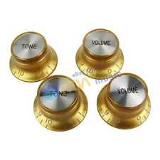 NEW Gold 2 Volume and 2 Tone Guitar Knobs Top Hat for SG/LP Style Guitar