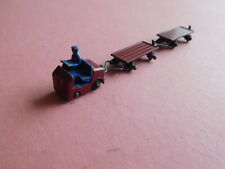 Dublo Dinky Toy Lansing Bagnall Platform Tractor 076, Two Trailers Hornby Dublo