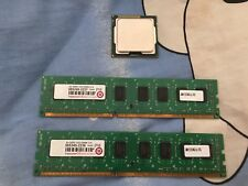 Intel Core i3 2100 3.1GHZ CPU 1155 plus 2 stick of 2GB DDR3 1333MHZ Memory