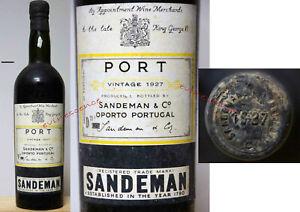 porto SANDEMAN 1927 Vintage Port millesime exceptionnel 75cl portwein wine winj
