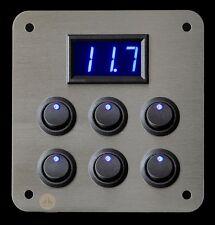 Campervan 12v Appliance X6 Switch LED Voltmeter