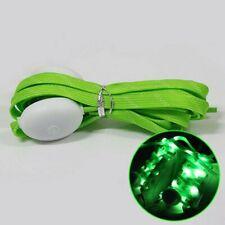 New LED Flashing Shoe Laces Shoelaces Green Light up Party Glow