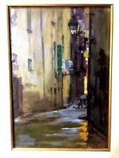 Peinture huile rue du vieux NICE la providence