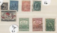 Canada QV/KGV Collection Of 8 MH/VFU J3880