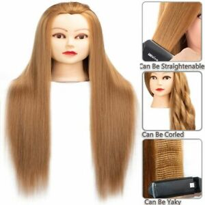 Synthetic Hair Mannequin's Head For Hairdressers Hair Styling Training Heads
