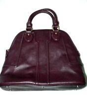 Sole Society Satchel Taupe Hand Bag Purse Tan Vegan Leather Purple
