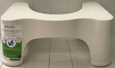 "Squatty Potty The Original Bathroom Toilet Stool, White, 9"" Plastic Poop Better"