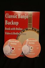 Classic Banjo Backup Book with 2 DVDs Geoff Hohwald BANJO WAREHOUSE