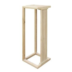 Chinese Handmade Natural Wood Tone Square Side Table Plant Stand cs4946B