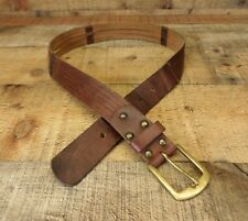 Old Navy Belt Leather Waist Brown Large 30