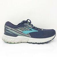 Brooks Womens Adrenaline GTS 19 1202841B450 Blue Running Shoes Size 11 B Medium