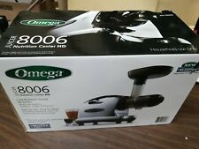 Omega 8006 Masticating Juicer Nutrition Center HD Chrome with box + accessories