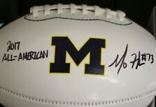 Maurice Mo Hurst Jr. University Michigan Autographed Nike Football w/Inscription