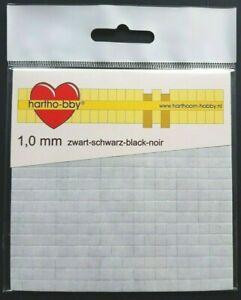 3D-Klebepads 400 Stück schwarz (Foam Pads) 1,0 mm
