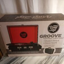 Vinyl Styl Groove Portable 3 Speed Turntable (SW-196B Skill  Pattern) NEW