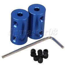 2 x Motor Getriebe Wellenverbindung Feste starre Kupplung Kupplung 4mm bis 6mm