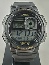 Casio AE1000W-1AWT Sport Men's Watch Alarm Illuminator World Time 100M New