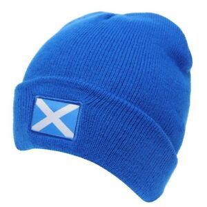 Scotland Beanie Mens Gents Knitted Rugby Hat Scottish 6 Nations