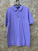 POLO RALPH LAUREN Men's S/S Polo Shirt Purple Lilac Regular Fit Size Large L