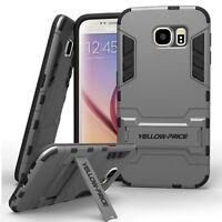 Samsung Galaxy S6 S6 Edge S6 Edge+ Plus Case Cover Slim Armor Shield Kick-Stand