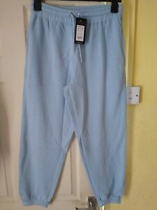 NEW LADIES/GIRLS PALE BLUE CUFFED JOGGERS SIZE 10 PETITE BY NEW LOOK