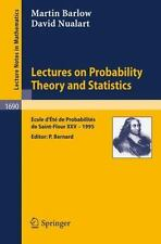 Lecture Notes in Mathematics: Lectures on Probability Theory and Statistics :...