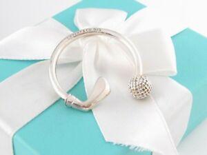 New Tiffany & Co Silver Golf Keychain Key Ring Chain
