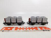 CO929-0,5 #2x Märklin H0 / AC 4614 Wagon Transport de Containers Maison À DB