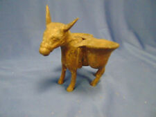 "Brass Donkey with baskets all metal 4"" high hand crafted collectible burror"