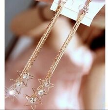 Fashion Earring Boho Festival Party Boutique Gold Large Long Tassel Star Luxury