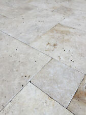 Travertin Mediterran - Römischer Verband - Naturstein Terrassenplatte
