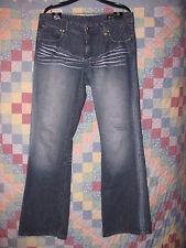 AKDMKS Women's jeans size 36 Mid Rise Fit boot cut/Flare blue denim