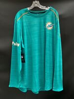 MIAMI DOLPHINS TEAM ISSUED ON FIELD DRI-FIT LONG SLEEVE SHIRT NEW W/TAGS XXL