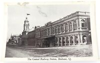 .c1910 CENTRAL RAILWAY STATION, BRISBANE POSTCARD. RETRAC SERIES.