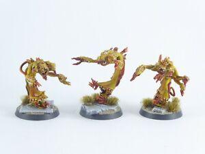 3 x Flamers der Disciples of Tzeentch - teilweise gut bemalt -