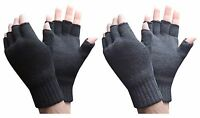 Heat Holders - Mens 3.2 Tog Warm Thermal Lined Outdoor Winter Fingerless Gloves