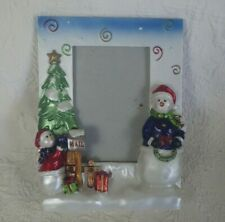 """Picture Frame Snowman Decorative Mail Picture Frame Holds 3.5"""" x 5.5"""" Photo"""