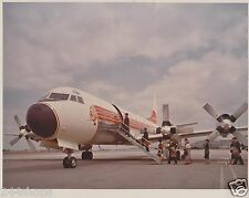 WESTERN AIRLINES -LOCKHEED ELECTRA PHOTO - COLOR 8 X 10