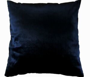 Mo98a Navy Blue Plain Shimmer Velvet Style Cushion Cover/Pillow Case Custom Size