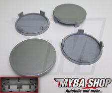 4x Tapacubos 64mm Buje de rueda llantas tapa en color gris Plan # NUEVO